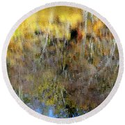 Reflections Of Fall1 Round Beach Towel