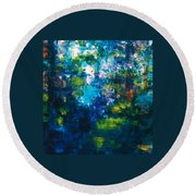 Reflections Of Fish Round Beach Towel