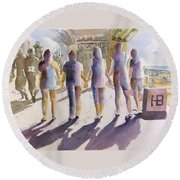 Reflections Of Friendship Round Beach Towel