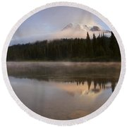 Reflections Of Majesty Round Beach Towel