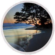 Reflections Of One Round Beach Towel