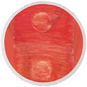 Reflections Of Pain Round Beach Towel