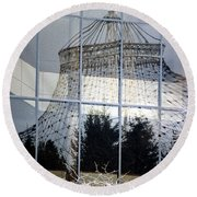 Reflections Of Riverfront Park Round Beach Towel