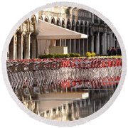Reflections Of Saint Mark's Square -day Round Beach Towel