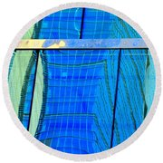 Reflections Of Seattle Round Beach Towel