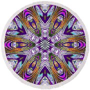 Reflections Of Source Round Beach Towel