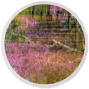 Reflections Of Spring Round Beach Towel
