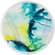 Reflections Of The Universe No. 2025 Round Beach Towel