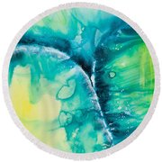 Reflections Of The Universe No. 2026 Round Beach Towel