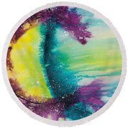 Reflections Of The Universe No. 2146 Round Beach Towel