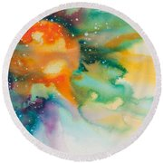 Reflections Of The Universe No. 2148 Round Beach Towel