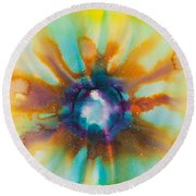 Reflections Of The Universe No. 2149 Round Beach Towel