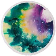 Reflections Of The Universe No. 2152 Round Beach Towel