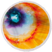 Reflections Of The Universe No. 2153 Round Beach Towel
