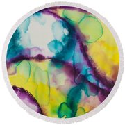 Reflections Of The Universe Series No 1390 Round Beach Towel