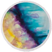 Reflections Of The Universe Series No 1420 Round Beach Towel