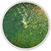 Reflections Of Time Round Beach Towel