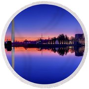 Reflections Of World War II Round Beach Towel