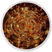 Reflections Of Yellow Round Beach Towel