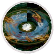 Reflections Of You Round Beach Towel