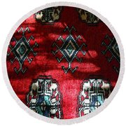 Reflections On A Persian Rug Round Beach Towel