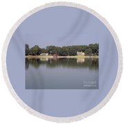 Reflections - On - Lake Weir Round Beach Towel