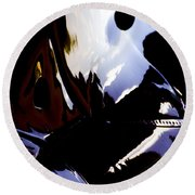 Reflections  Round Beach Towel by Paul Job