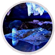 Reflective Cavern Round Beach Towel