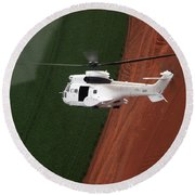 Reflective Helicopter Round Beach Towel