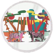 Reflective Protector Round Beach Towel