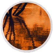 Reflectivity Round Beach Towel
