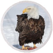 Regal Eagle Round Beach Towel