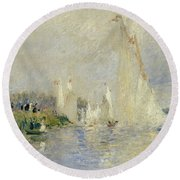 Regatta At Argenteuil Round Beach Towel