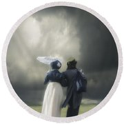 Regency Couple Round Beach Towel