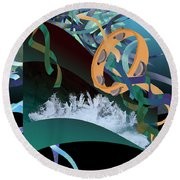 Rejoice In The River Round Beach Towel