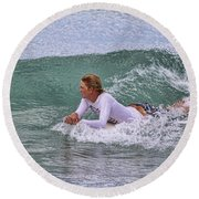Relaxing In The Surf Round Beach Towel