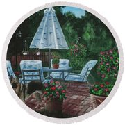 Relaxing Place Round Beach Towel