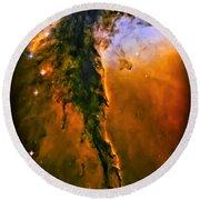 Release - Eagle Nebula 3 Round Beach Towel