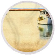 Relentless On The Water Round Beach Towel
