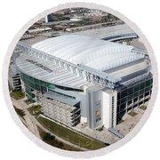 Reliant Stadium In Houston Round Beach Towel