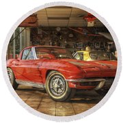 Relics Of History - Corvette - Elvis - Nehi Round Beach Towel