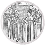 Religious Argument, 1477 Round Beach Towel