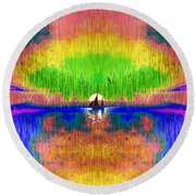 Rememberances Of The Perfect Day Round Beach Towel