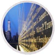 Remembering 9/11-hope And Despair Round Beach Towel