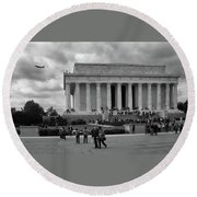 Remembering Abe  Round Beach Towel