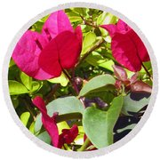 Remembering Magenta Round Beach Towel