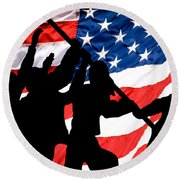 Remembering World War II Round Beach Towel by Bob Orsillo