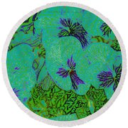 Remembrance Flowers Round Beach Towel