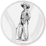Remington Cowboy, 1887 Round Beach Towel