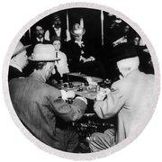 Reno Gambling, 1910 Round Beach Towel